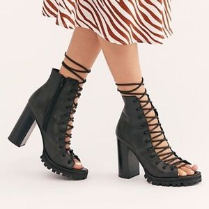 Free People x Jeffrey Campbell Palermo Heels 9 NEW